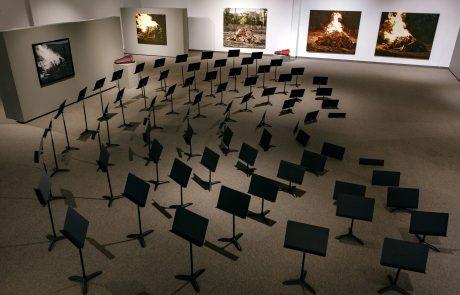Julie Comnick | Arrangement for a Silent Orchestra installation views- Coconino Center for the Arts, Flagstaff AZ
