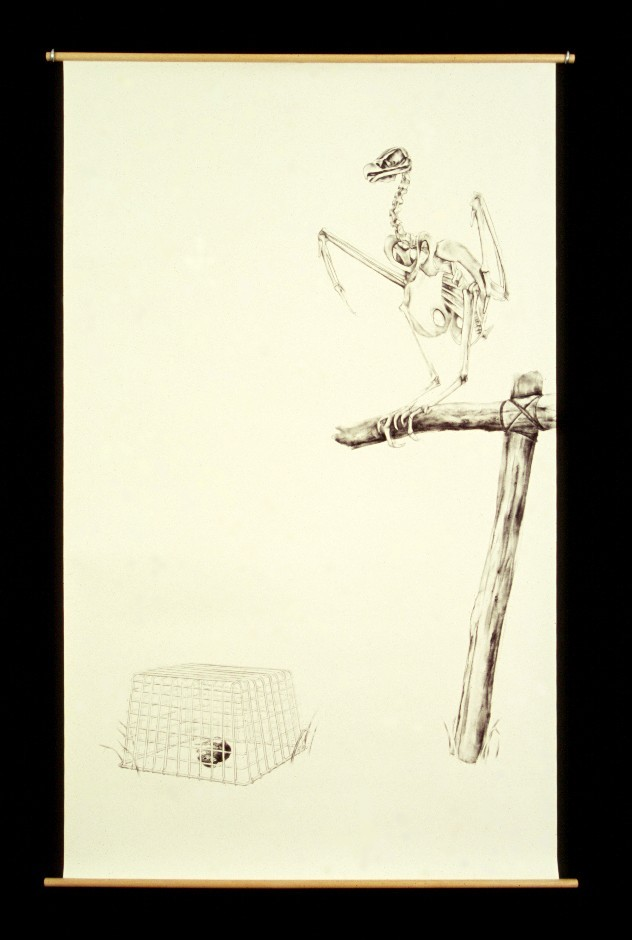 Julie Comnick | Famine | 2002 | charcoal on paper | 70″ x 42″