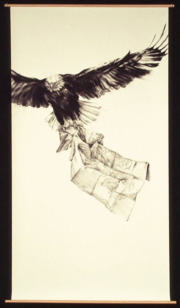 Julie Comnick | Itinerary | 2003 | charcoal on paper | 77″ x 42""