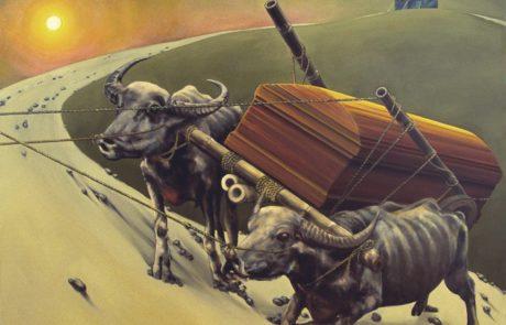 Julie Comnick   Procession   2003   oil on canvas   75″ x 90″