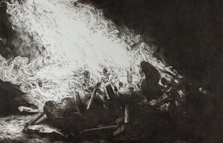 Julie Comnick | Untitled I | 2013 | charcoal on paper | 45″ x 54″