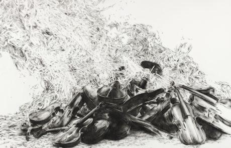 Julie Comnick | Untitled II | 2014 | charcoal on paper | 45″ x 54″