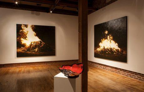 Julie Comnick | Arrangement for a Silent Orchestra installation views- Prescott College Art Gallery at Sam Hill Warehouse, Prescott, AZ