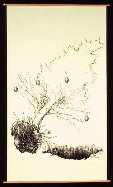 Julie Comnick   Resurrection   2003   charcoal on paper   75″ x 42″