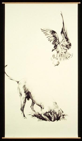 Julie Comnick   Treasure   2003   charcoal on paper   77″ x 42″