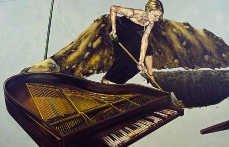 Julie Comnick   Cadence   2002   oil on canvas   75″ x 85″