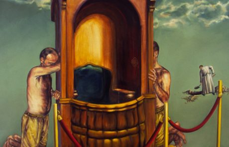 Julie Comnick   Communion with Vacancy   2002   oil on canvas   90″ x 85″