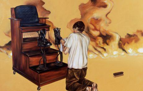 Julie Comnick   Occupation   2003   oil on canvas   75″ x 85″